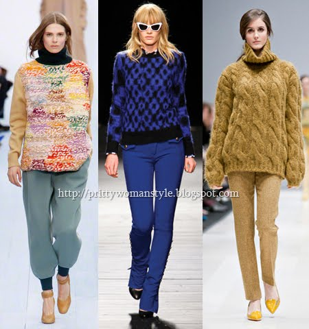 Дебели пуловери с релефна плетка