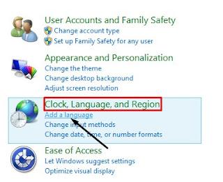 Cara Menambah Bahasa Penulisan Komputer Windows 8