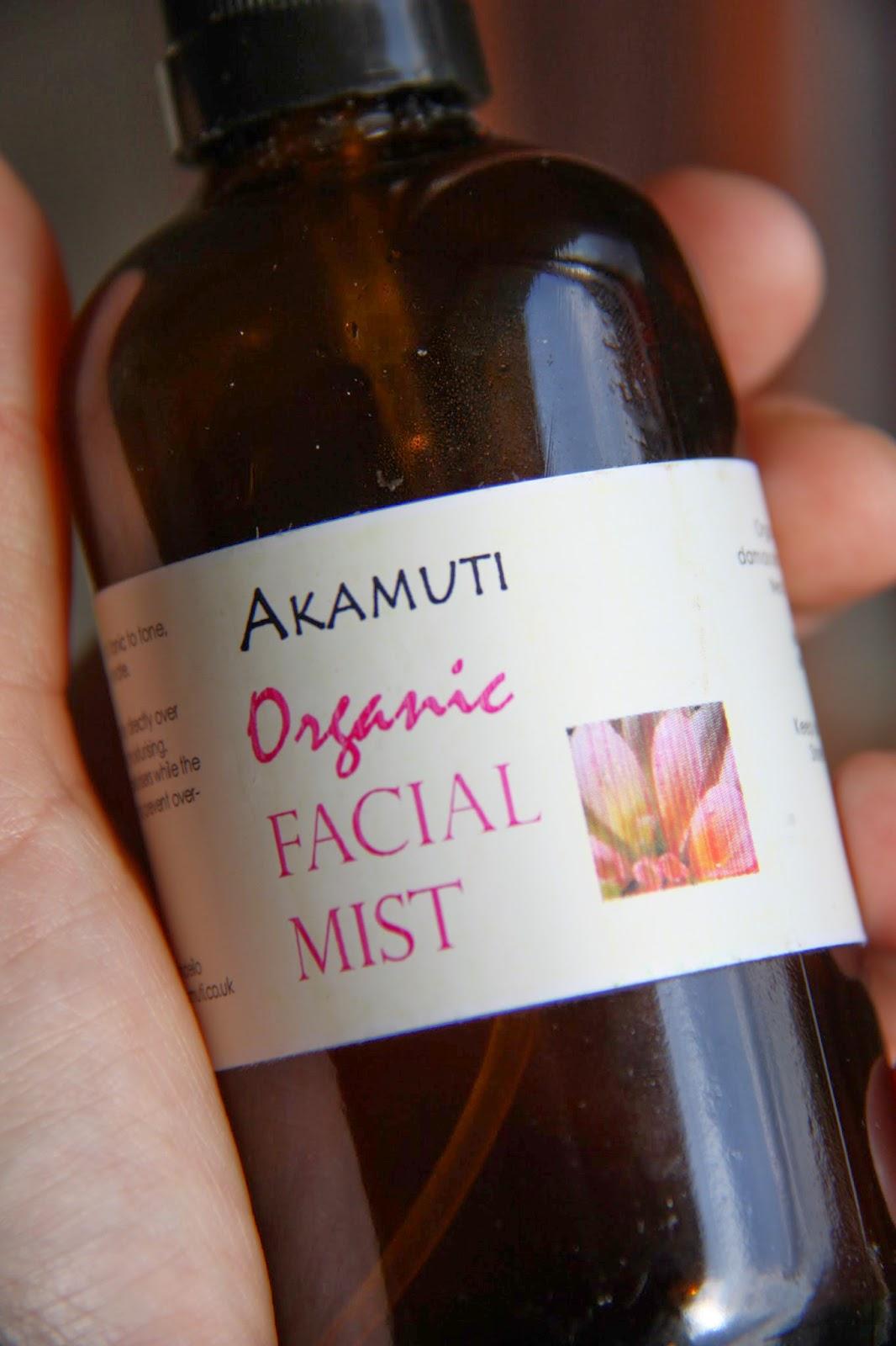 Organic facial mist