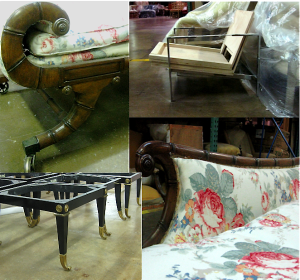 Daybeds Chairs And Stools Waiting To Be Reupholstered