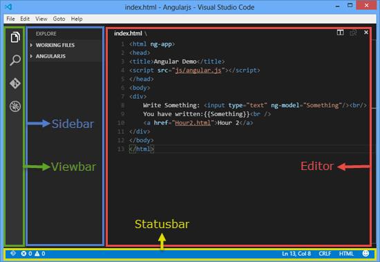 Visual Studio Code UI