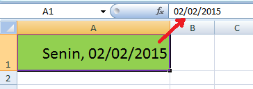 Cara Menampilkan Hari pada cell tanggal di Excel