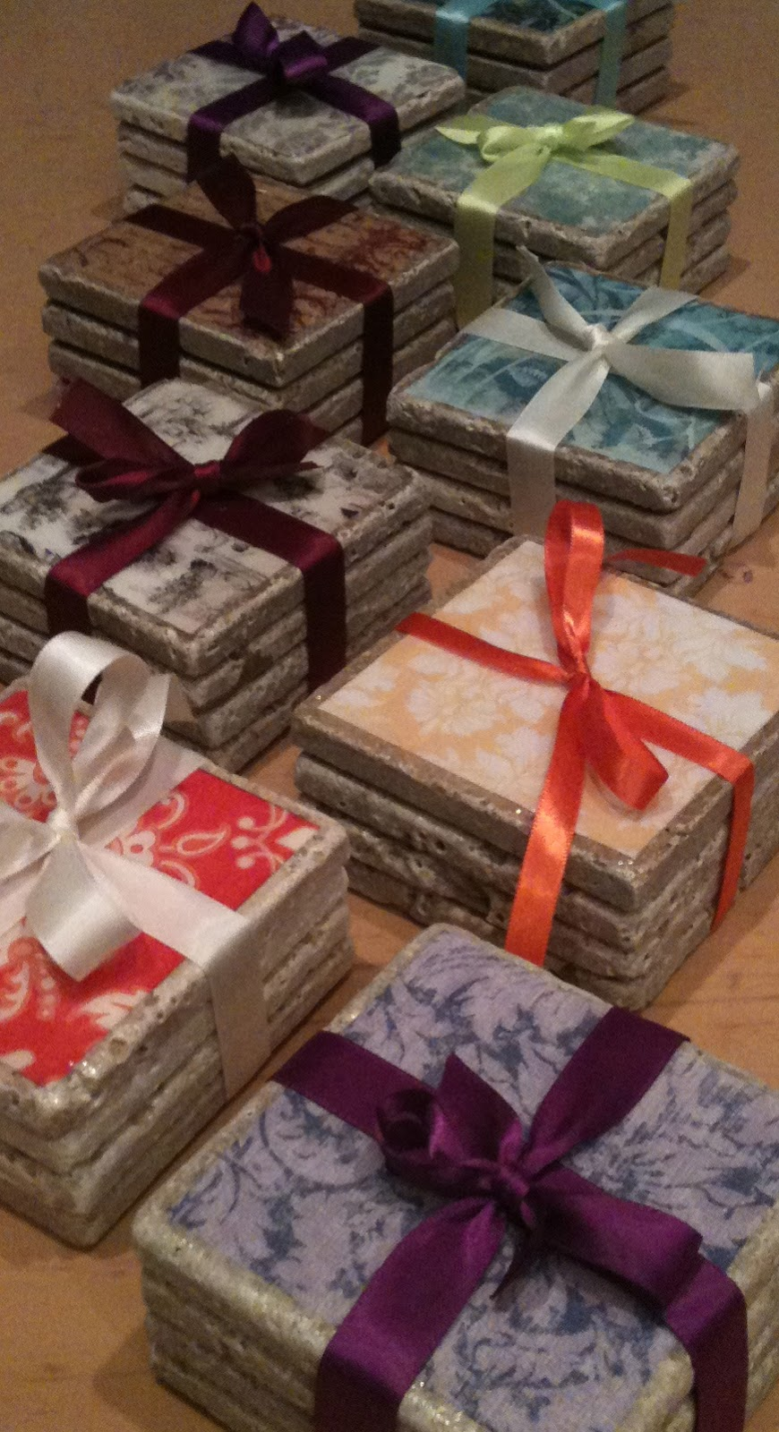 Coconut Love: Impressive & Inexpensive Tile Coasters With Paper ...
