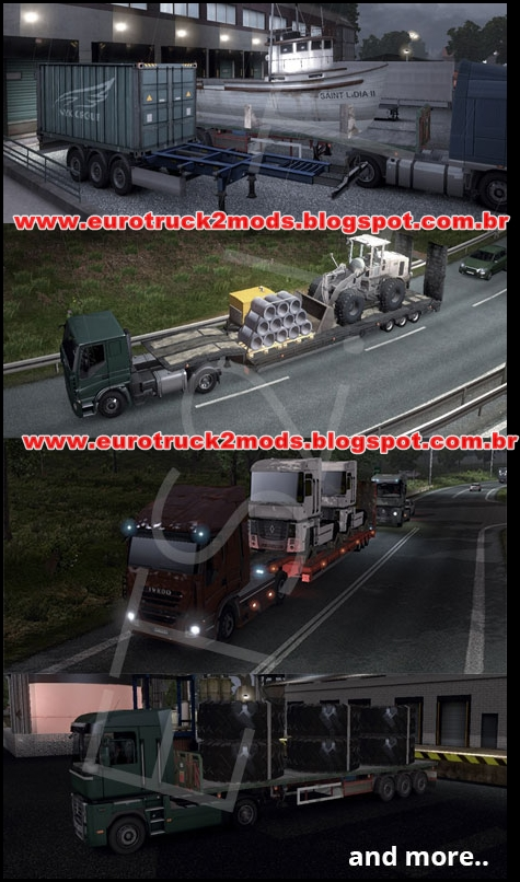 Euro truck 2 Mods - Pack Trailers