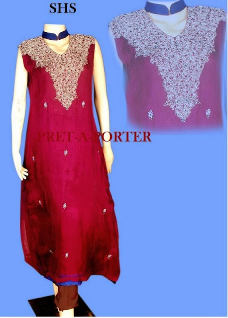 Latest Semi Formal Wear Collection 2013-2014 By SHS Pret-a-Porter