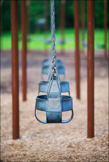 Swings at a playground