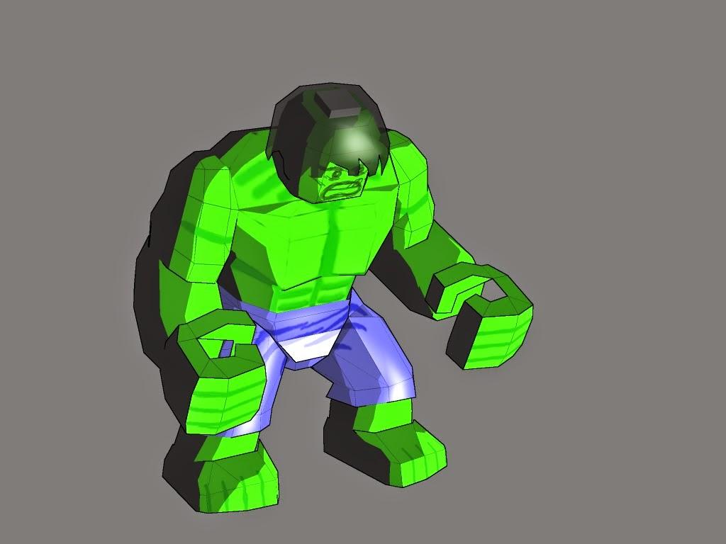 Lego Hulk Paper Craft Model