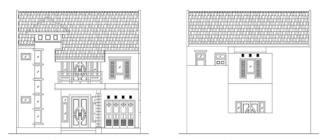 Desain Rumah 2 Lantai Luas Tanah 10x11 Meter Nampak Depan
