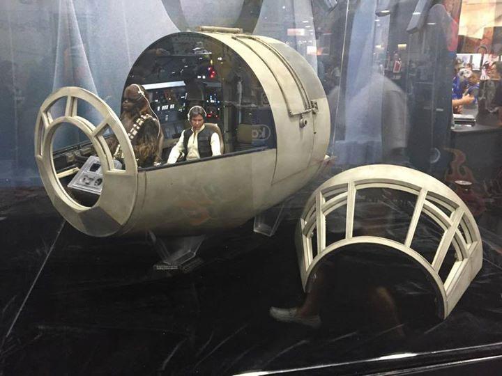 seen    sdcc2015  millennium falcon cockpit   tie fighter