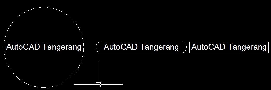 Cara Membuat Bingkai Pada Teks di AutoCAD.
