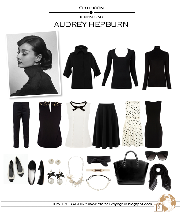 audrey hepburn travel capsule