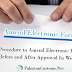 Procedure to Amend Electronic Form-E in Weboc