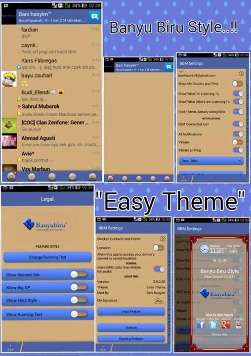 BBM Mod Themes Easy