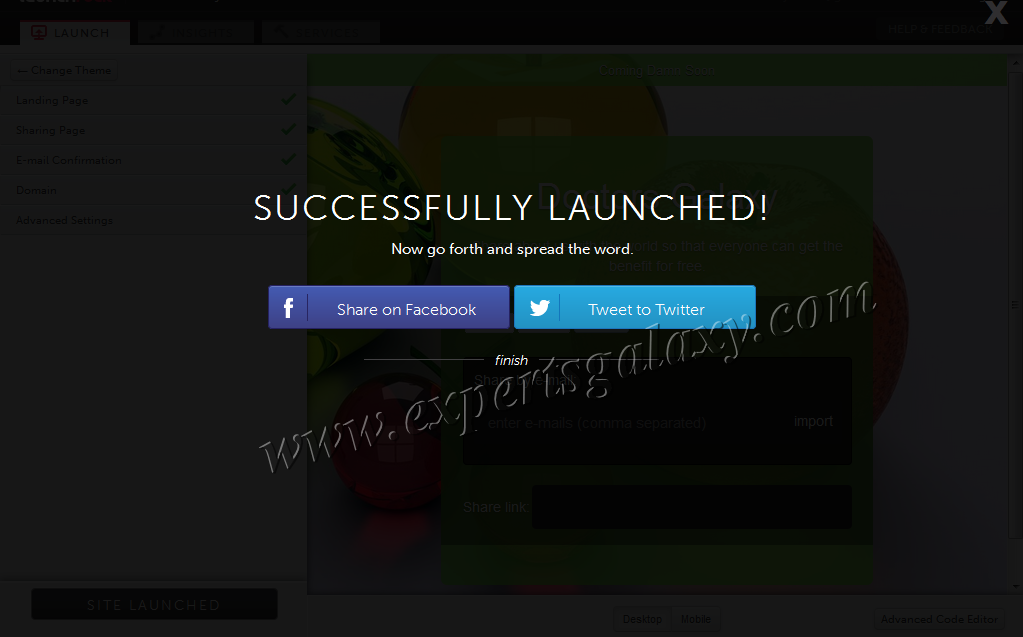 Successfully Launched Coming Soon Page