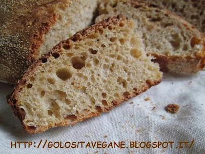 bruschetta, farina semi integrale, forno, licoli, lievitati, lievito, malto, pane, pane casereccio, Pane Pizza e..., pieghe, ricette vegan,