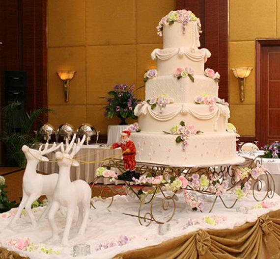 Wedding inspiration center sacred wedding cake for Christmas theme design