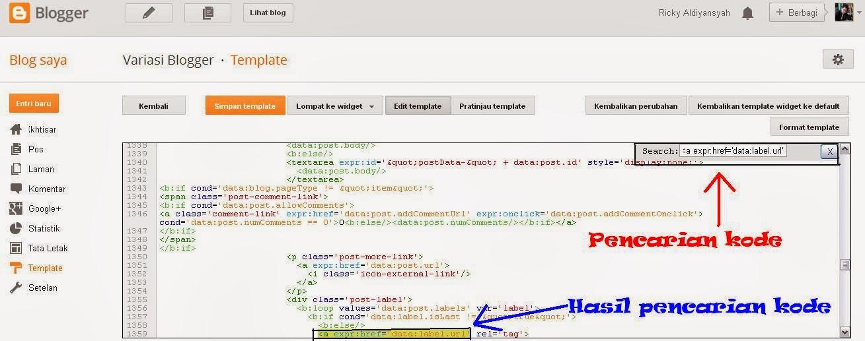 Cara Mencari Kode Script di Edit HTML Template Blogger Updates