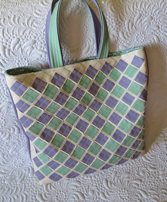 Faux Leather Woven Bags