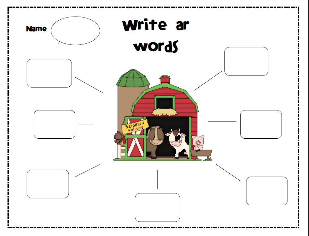 Phonics AR Words submited images.