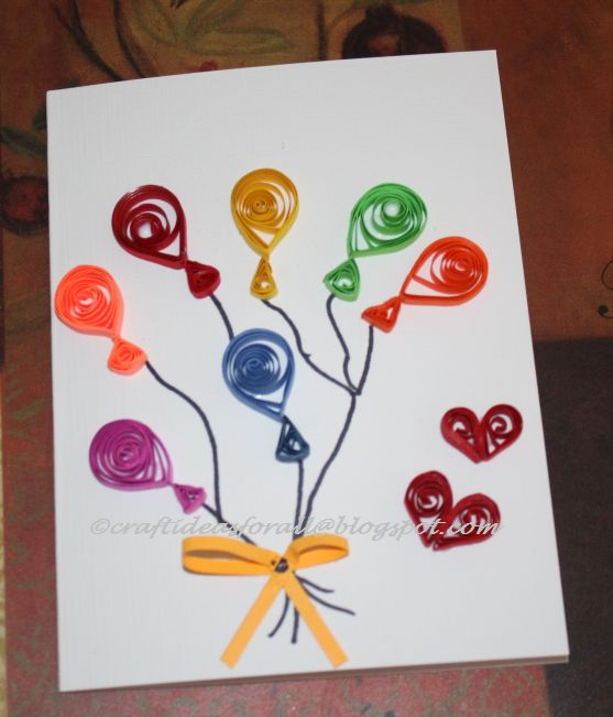 Craft ideas for all june 2011 - Paper quilling ideas for kids ...