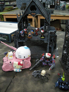Hello Kitty Warhammer 40k pink tank Sisters of Battle Rhino conversion