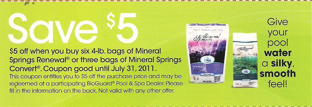 Warm mineral springs coupons