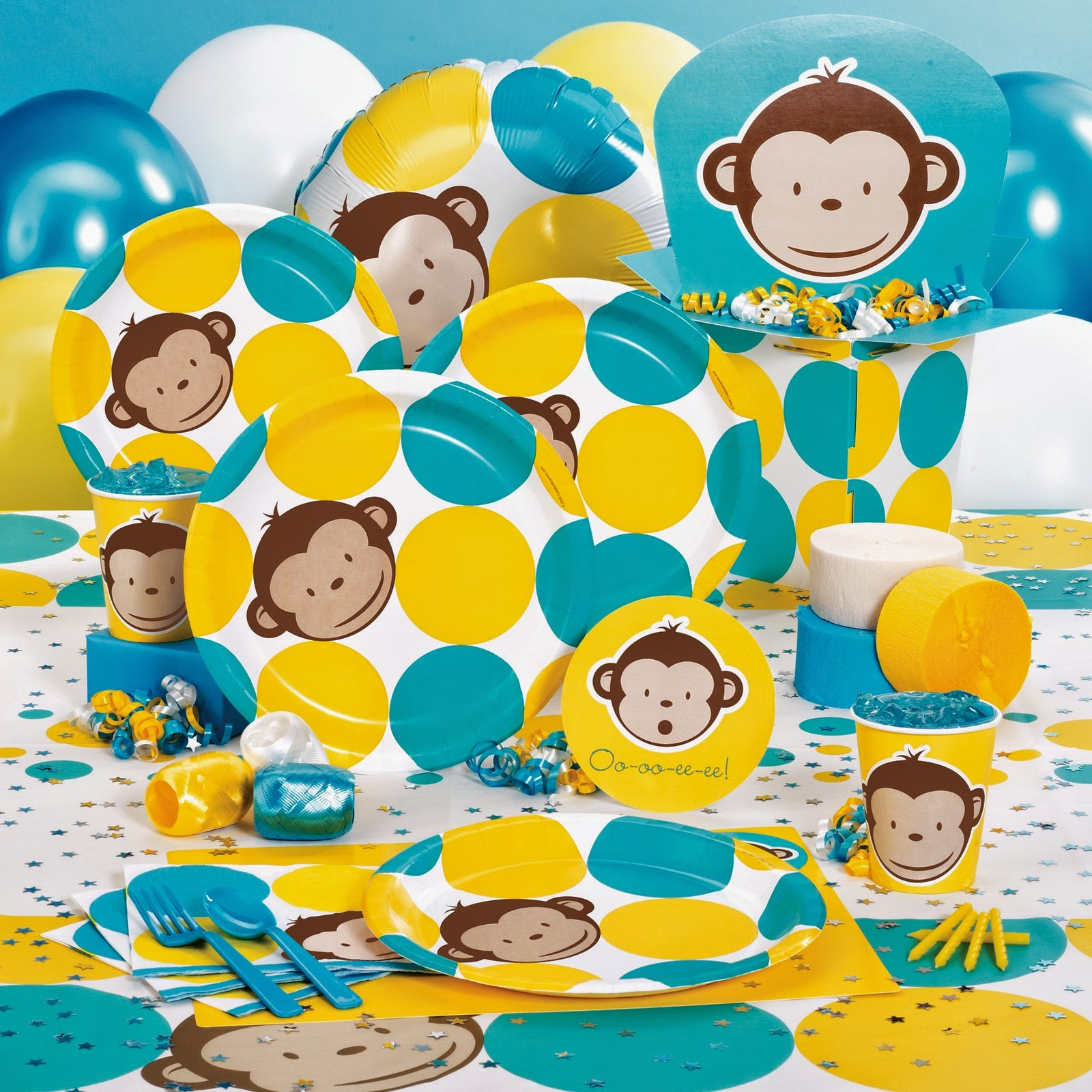 Monkey Baby Shower Decorations Cute Decoration Worlds Of