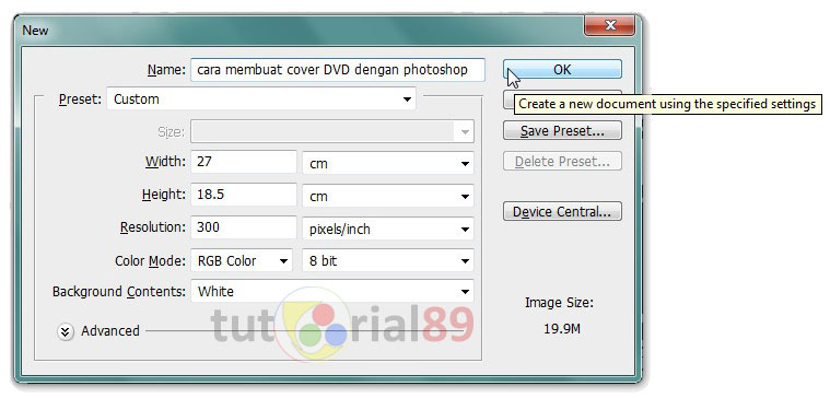 Cara membuat cover DVD dengan photoshop