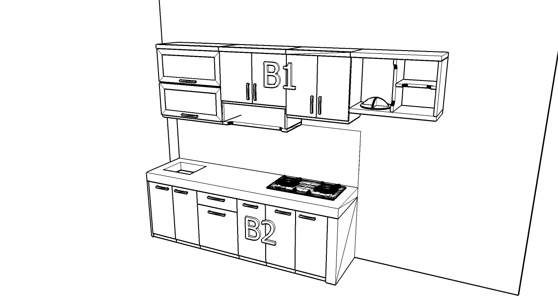 Kitchen set lurus minimalis dan sekat ruang tamu bentuk for Kitchen set lurus