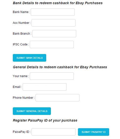 13% cashback ebay