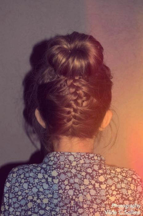 Love My Hairstyle: How To: Upside Down French Braid Bun Hairstyle