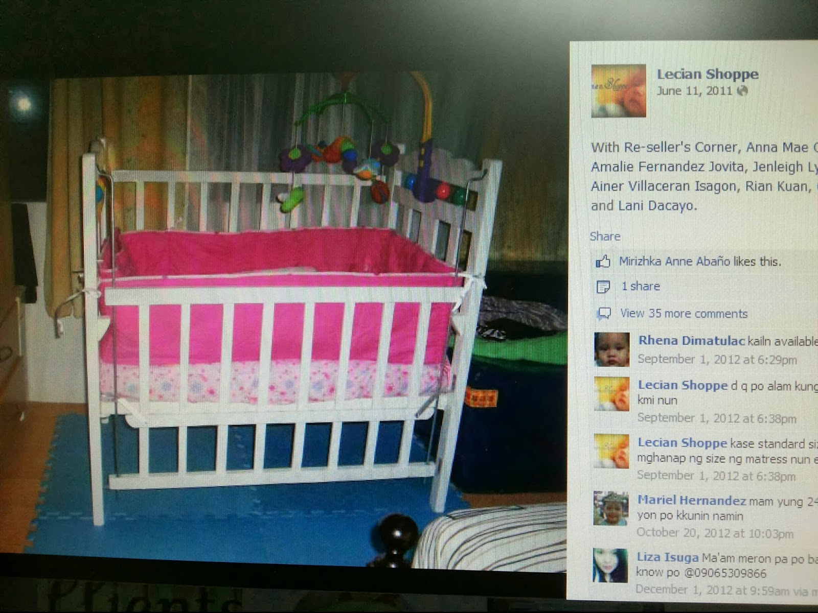 Iron crib for sale craigslist - Crib For Sale Marikina Che S Baby Shop Sulit Com This One Is Quite The