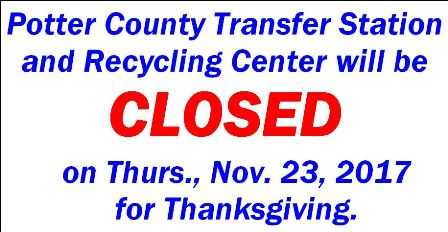11-23 Potter Co. Transfer & Recycling Closed