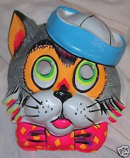 máscara del gato tom con sombrero de marinero para halloween