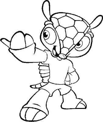 Desenho do Mascote da Copa de 2014 para colorir
