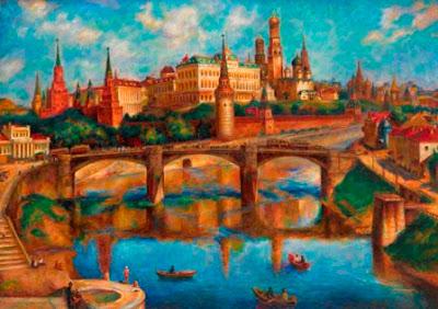 Павел Соколов-Скаля, Вид на Московский Кремль, 1925 г. (120 000-180 000 GBP)