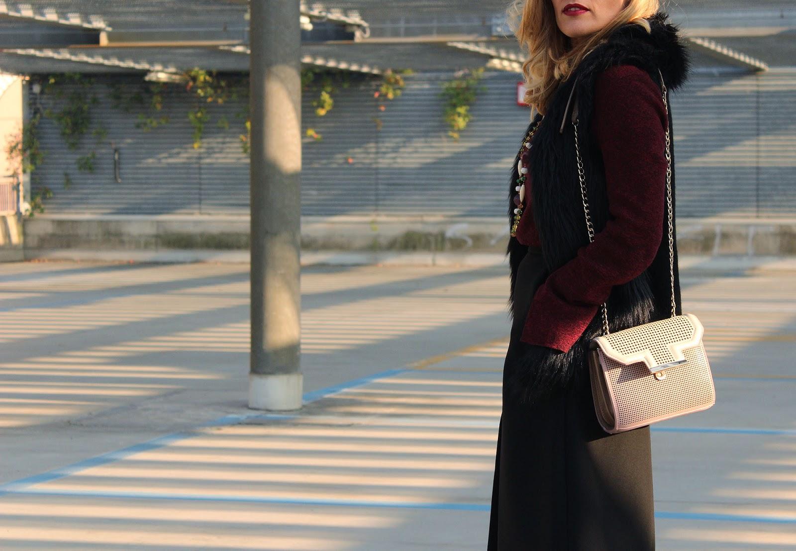Eniwhere Fashion - Midi skirt e stringate ootd