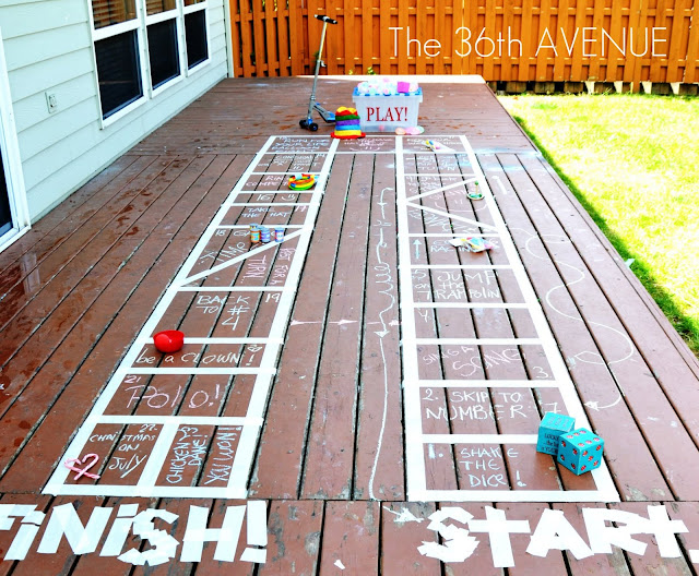 Kids Activities - How to make a Backyard Giant  Game Board at the36thavenue.com Pin it now and play later!