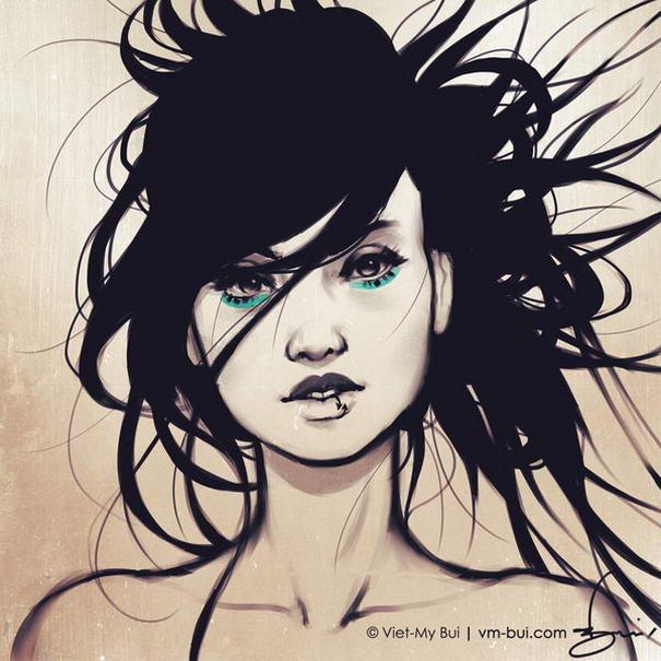 ilustraciones de personajes femeninos