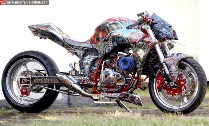 modifikasi motor yahama scorpio airbrush