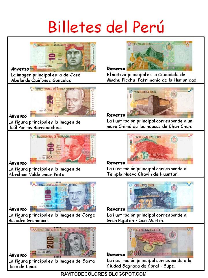 Monedas y Billetes del Perú | Rayito de Colores