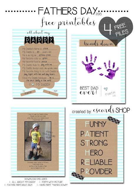 FREE Fathers Day Free Printables!