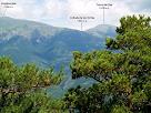 Vista del Puigllançada al Tossal de Rus des del Cap de la Coma Verda