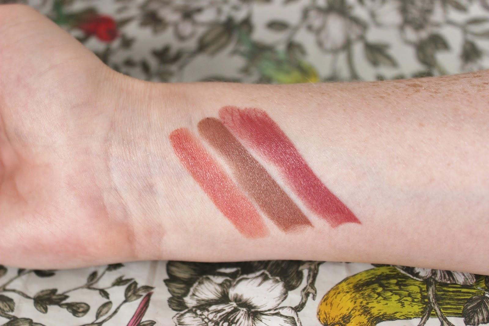 Illamasqua glamore nude Cherub, Buff and Mix lipstick swatches