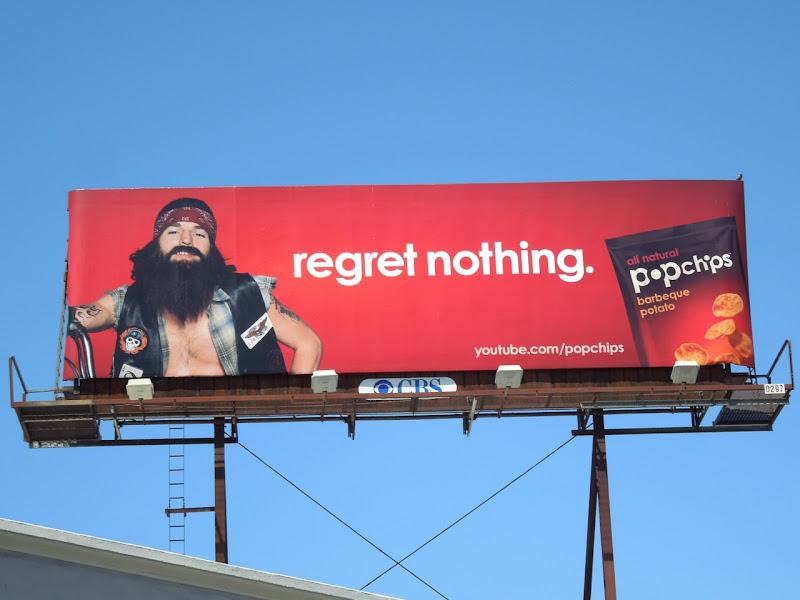 Regret Nothing Popchips billboard