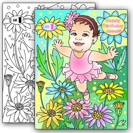 NEW* BALLERINA Custom coloring page