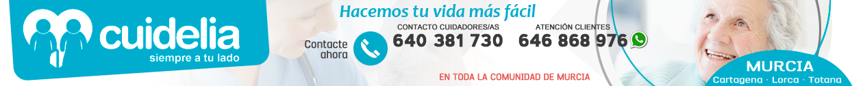 CUIDELIA · 640 381 730 · Cuidado de mayores en Murcia
