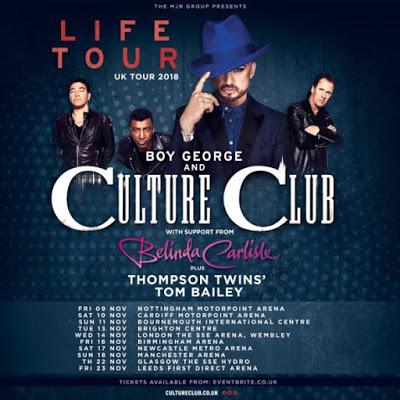 CULTURE CLUB & BELINDA CARLISLE - UK TOUR NOV. 2018