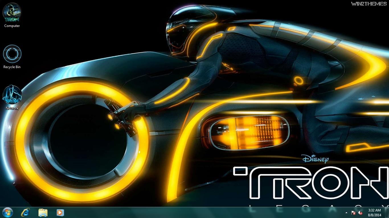 Tron ring theme for windows 7 projectmyskills