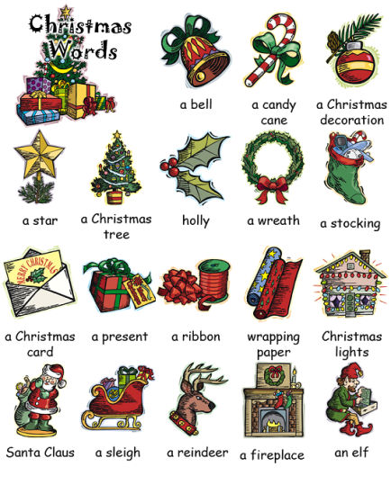 ClickinEnglish: CHRISTMAS VOCABULARY